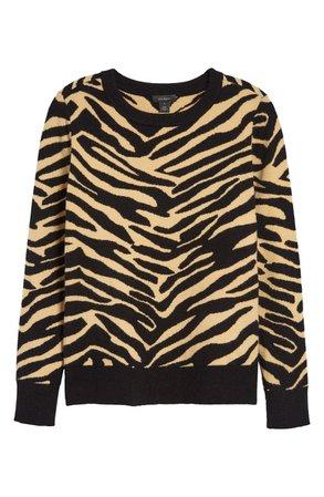 Halogen® Patterned Crewneck Sweater | Nordstrom