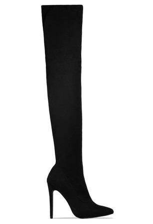 stiletto knee high boots