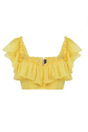 yellow top cute