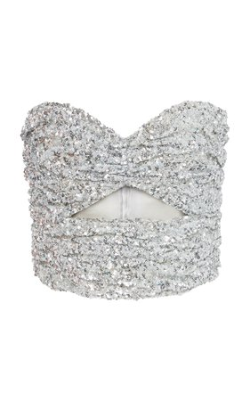 Strapless Cutout Sequined Top by Attico | Moda Operandi