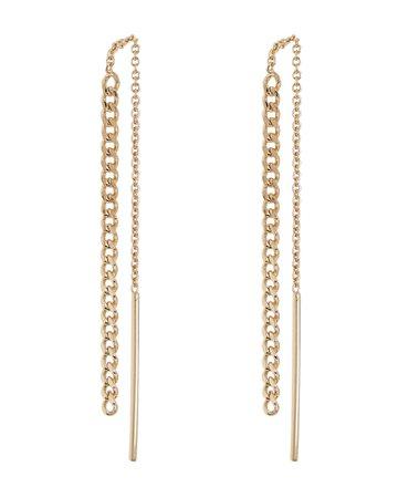 Argento Vivo Curb Chain Threader Earrings | INTERMIX®