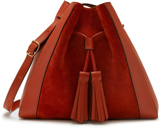 Small Millie Suede & Leather Tote