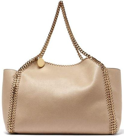 Falabella Small Reversible Faux Leather Tote - Womens - Beige
