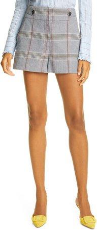 Betty Plaid Cotton Blend Shorts