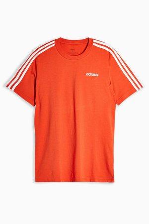 Orange Three Stripe T-Shirt by adidas   Topshop