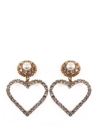 Alessandra Rich Heart Earringd