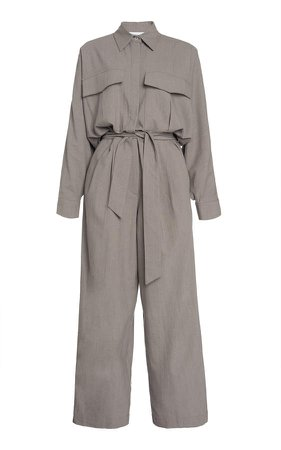 Piece of White Oliver Long-Sleeve Wool Jumpsuit
