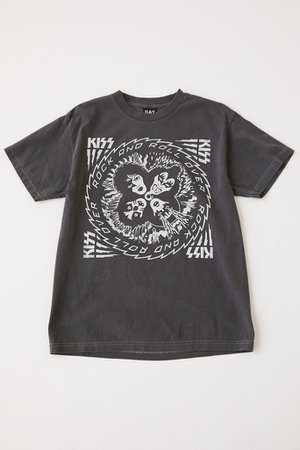 Day Kiss Rock And Roll Over Tee   Urban Outfitters