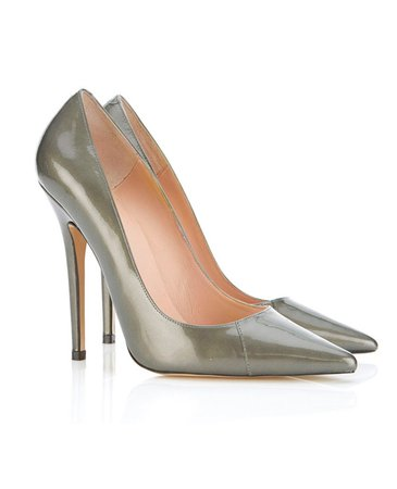 Shoes : 'Paris' Patent Leather Metallic Pointed Toe High Heel Pump