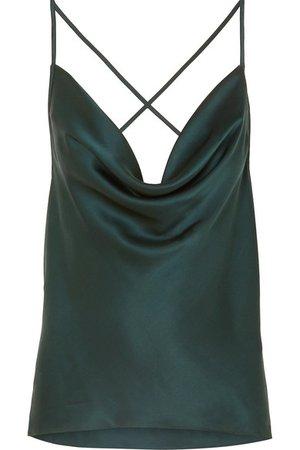 Cami NYC | The Jacqueline draped silk-charmeuse camisole | NET-A-PORTER.COM
