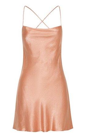 Crush Satin Mini Slip Dress By Third Form | Moda Operandi