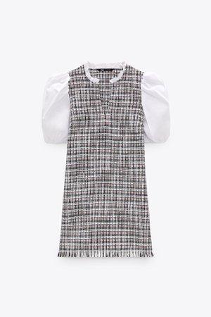 COMBINED STRUCTURED DRESS | ZARA South Korea
