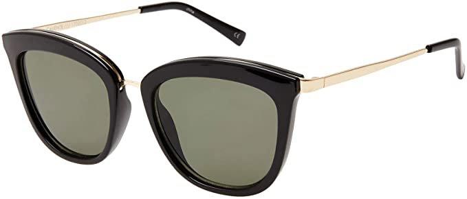 Le Specs. CALIENTE womens BLACK/GOLD eyewear at Amazon Women's Clothing store