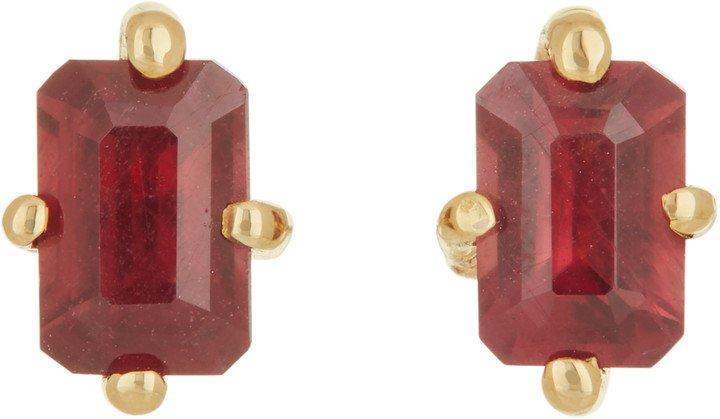 Guinevere Ruby Stud Earrings