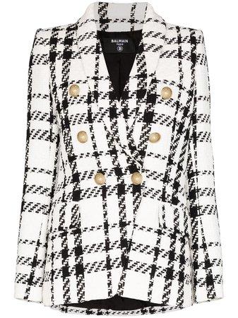 Balmain Doppelreihiger Tweed-Blazer