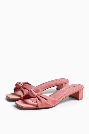 DRAGON Pink Knot Mules | Topshop