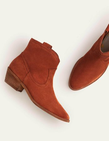 Allendale Ankle Boots - Red Oak | Boden US