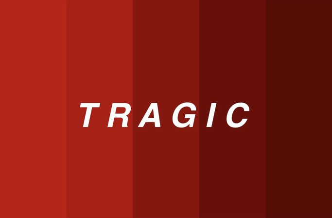 tragic red