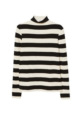 MANGO Striped turtleneck t-shirt