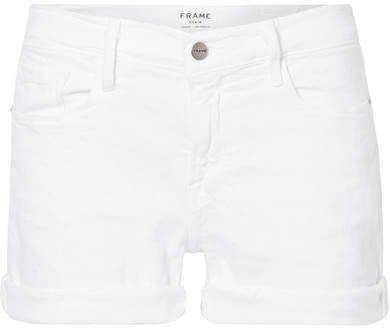 Le Cutoff Denim Shorts - White