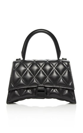 Hourglass Embellished Quilted-Leather Top Handle Bag by Balenciaga | Moda Operandi