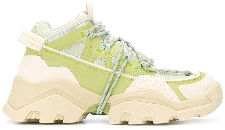 Panelled Mid-Top Sneakers