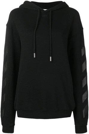 diagonals print hoodie