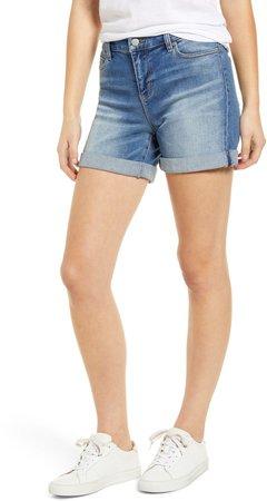 Vickie Roll Cuff Denim Shorts