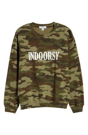 Sub_Urban Riot Indoorsy Camo Sweatshirt green