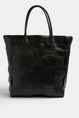 Black Extra Large Weave Tote Bag | Topshop