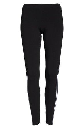 adidas 3-Stripes Logo Leggings black