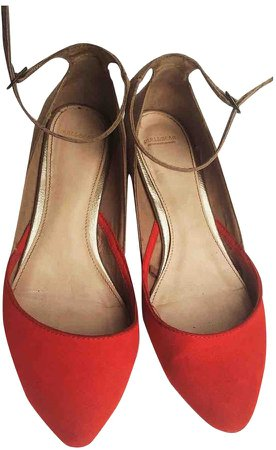 Non Signé / Unsigned Non Signe / Unsigned Red Suede Sandals