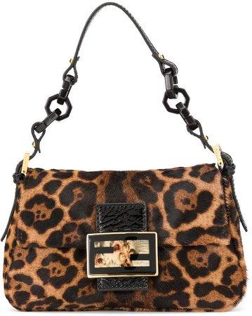 Pre-Owned leopard print Mamma Baguette shoulder bag