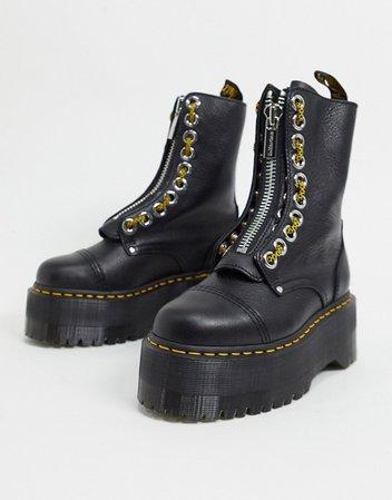 Dr Martens Exclusive 10 eye Sinclair Maxflatform boots in black   ASOS