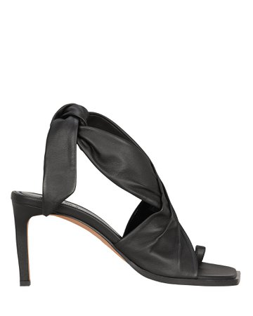 Axel Tie Ankle Leather Sandals