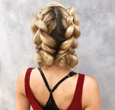 long blonde braided hairstyles - Google Search