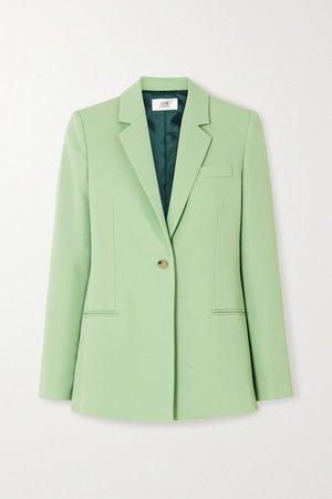 Mint Twill blazer | Victoria, Victoria Beckham | NET-A-PORTER