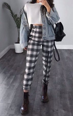 grunge casual outfit