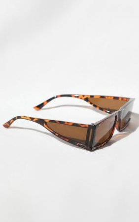 Brown Leopard Brown Lens Sunglasses   PrettyLittleThing
