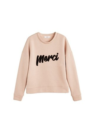 MANGO Message textured sweatshirt