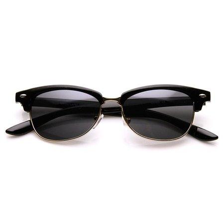 sunglass.la - Classic Oval Shaped Semi-Rimless Half Frame Horn Rimmed Sunglasses - Walmart.com - Walmart.com