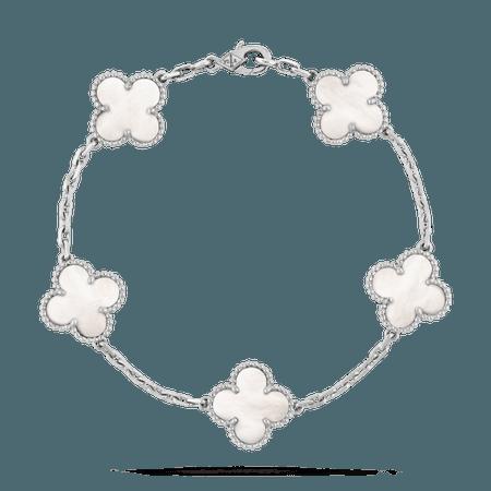 Bracelet Vintage Alhambra 5 motifs - VCARF48400- Van Cleef & Arpels