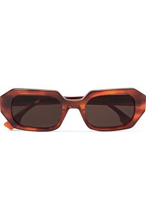 Le Specs | La Dolce Vita octagon-frame tortoiseshell acetate sunglasses | NET-A-PORTER.COM