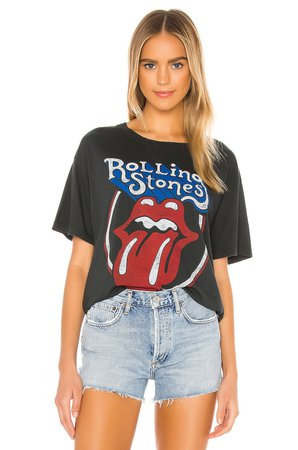 DAYDREAMER Rolling Stones Classic Tongue Tee in Ash   REVOLVE