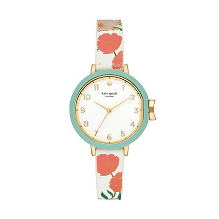 Amazon.com: kate spade new york Women's Park Row Stainless Steel Quartz Watch with Silicone Strap, Blue, 11 (Model: KSW1418): Clothing