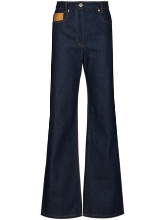 Shop blue Paco Rabanne high waisted flared jeans with Express Delivery - Farfetch