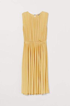 Pleated Dress - Yellow