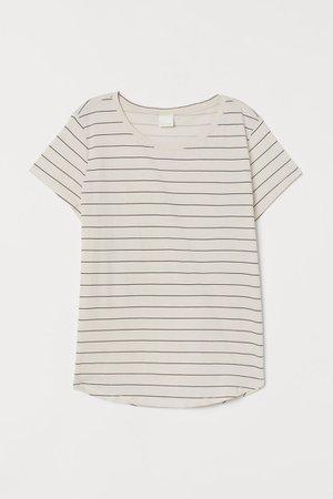 Cotton T-shirt - White/striped - Ladies | H&M US