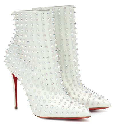 CHRISTIAN LOUBOUTIN Snakilta 100 leather ankle boots