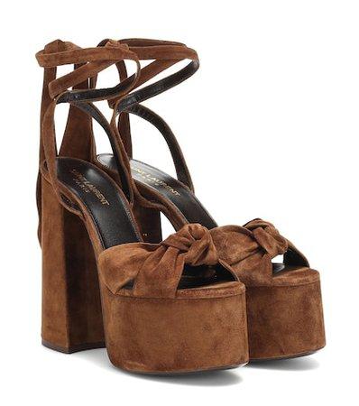 Paige suede platform sandals